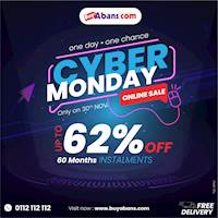 Cyber Monday Offer - Get discounts up to 62% and up to 60 month easy payment plans on a wide range of products from BuyAbans.com