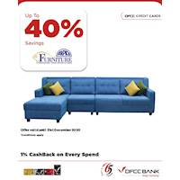 Enjoy Up to 40% savings on selected products at Arpico Furniture with DFCC Credit Cards!