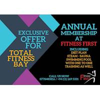 Total Fitness Bay 10% off on Annual Joining Fee