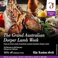 Enjoy an entire week of perfectly curated Australian Dorper Lamb at The London Grill