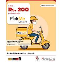 Save Rs. 200 when you purchase your essentials on PickMe Market with DFCC Credit Cards!
