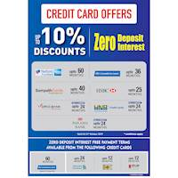 Credit Card Offers at Damro Until 31st October 2019