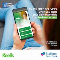 Enjoy free delivery when you place the order with your Nations Trust Bank American Express Card via www.keellssuper.com