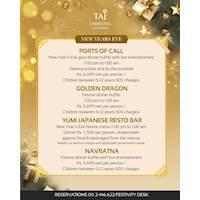 Celebrate New Year's Eve at Taj Samudra
