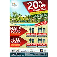 Flash Offer - Deluxe Full Board Rs. 5750