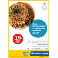 15% Discount for Combank Credit Cards at Kottulabs