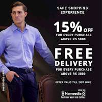 Enjoy 15% savings for purchases above Rs. 5000 and FREE delivery islandwide for every purchase above Rs. 3000 at Hameedia
