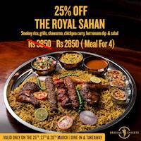Royal Sahan is 25% off at Arabian Knights