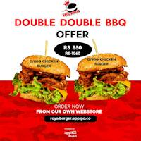 Double Double BBQ Offer at Royal Burger