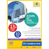 Get up to 15% Discount for Combank Cards at Nawaloka Hospitals