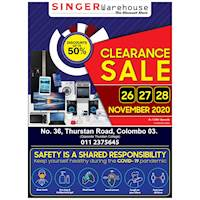 Clearance Sale - Up to 50% OFF on a Wide Range of Electronics & Home Appliances at Singer Warehouse