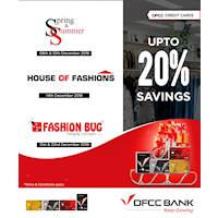 Grab up to 20% discount at Fashion Bug, House of Fashions and Spring & Summer with DFCC Credit Cards.