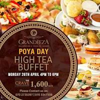 Special Poya Day High Tea at GRANDEEZA