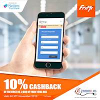 Enjoy a 10% Cashback on the first Rs. 2000 of your total bill on E- Channeling via FriMi valid till the 30th November 2019.