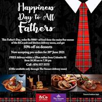 Celebrate Father's Day with The Steuart and get 50% OFF on desserts!