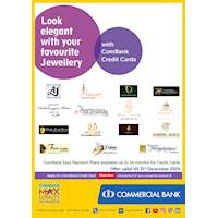Look elegant with your favourite Jewellery with ComBank Credit Cards.