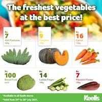Offering the best prices this weekend for fresh veggies at Keells