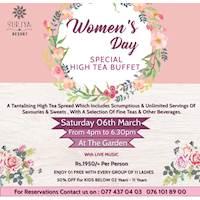 Women's Day Special High Tea Buffet at Suriya Resort