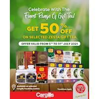 Get 50% Off on Selected zesta gift tea at Cargills FoodCity!