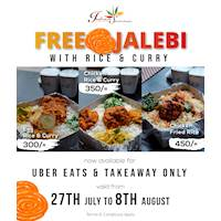 Free Jalebis with every Rice & Curries at Indian Summer
