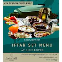 Enjoy Iftar Set Menu at Blue Lotus - 6th Person dines Free