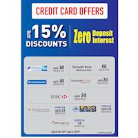 Up to 15% Discount at Damro for Credit Cards