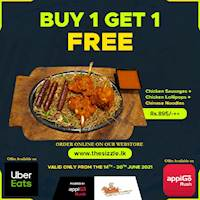 BUY 1 GET 1 FREE - On our Webstore www.thesizzle.lk and on UberEats & AppigoRush
