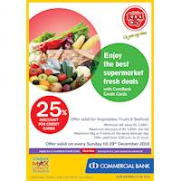 25% Discount for Combank Credit Card at Cargills Food City