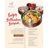 Enjoy our bottomless Biryanis with Navratna at Taj Samudra Colombo!