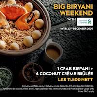 Big Biryani Weekend with Standard Chartered Visa Infinite and Priority Cards!