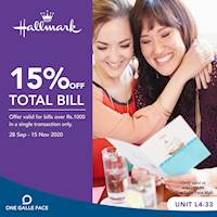 15% Off on Total Bill at Hallmark One Galle face
