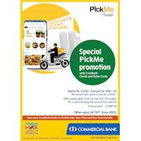 Special PickMe promotion with ComBank Credit & Debit Cards