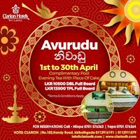 Enjoy your Avurudu Holiday at Hotel Clarion