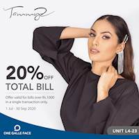 Get your fun and chic accessory and jewelry fix at T'z - Tammy's and receive 20% off on bills over Rs. 1000 in a single transaction only at Once Galle Face T'z - Tammy's