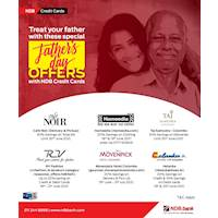 Treat your father with these special Father's Day offers from NDB credit cards!
