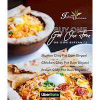 Buy One Get One Free on Dum Biryani only on Uber Eats from Inidan Summer